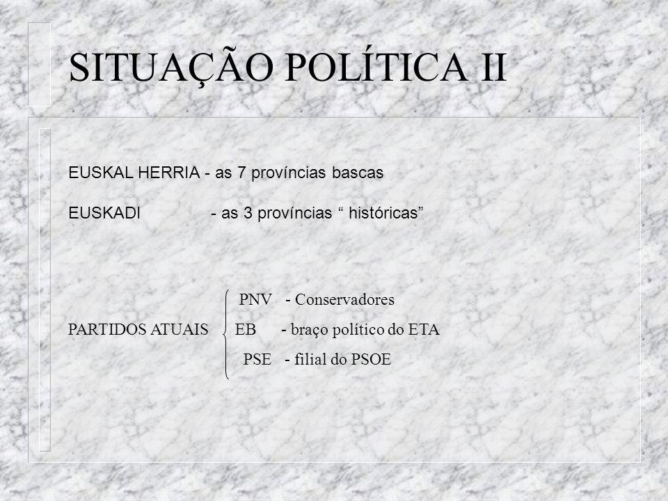 SITUAÇÃO POLÍTICA II EUSKAL HERRIA - as 7 províncias bascas