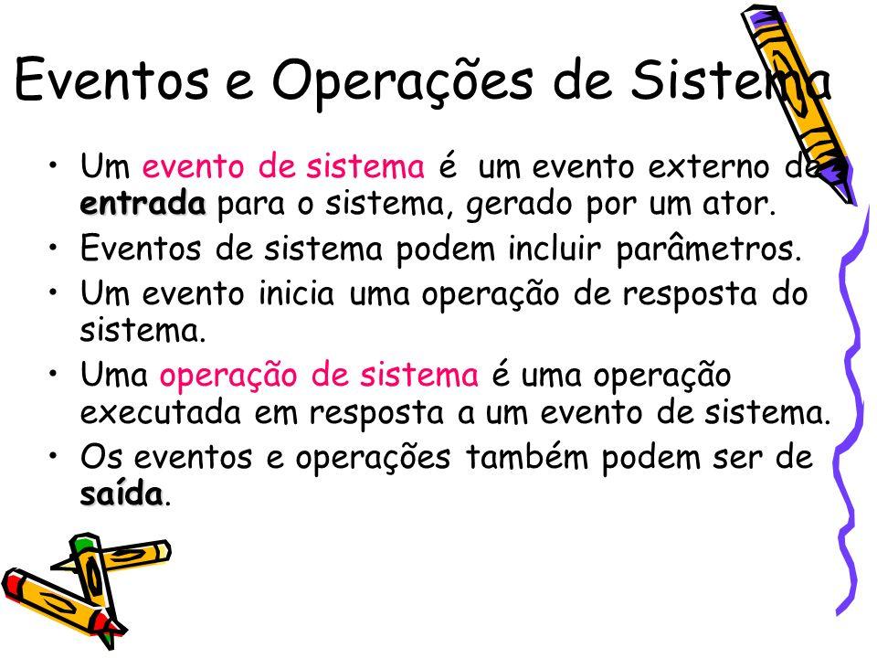 Eventos e Operações de Sistema