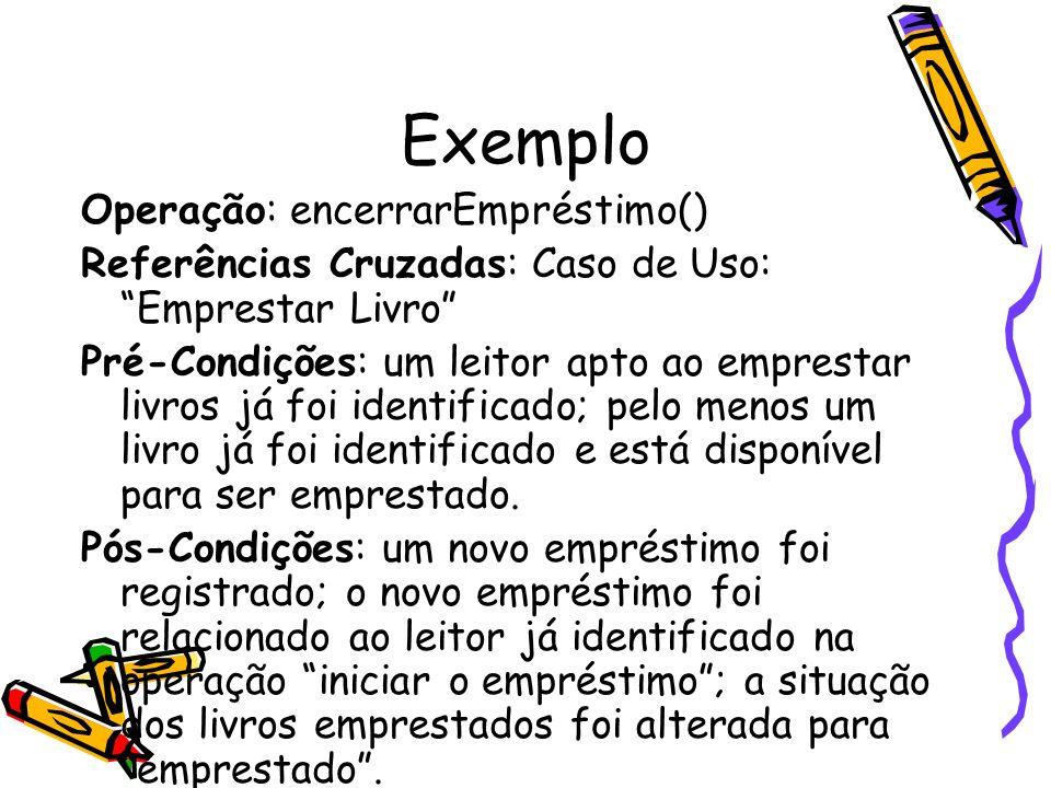 Exemplo Operação: encerrarEmpréstimo()