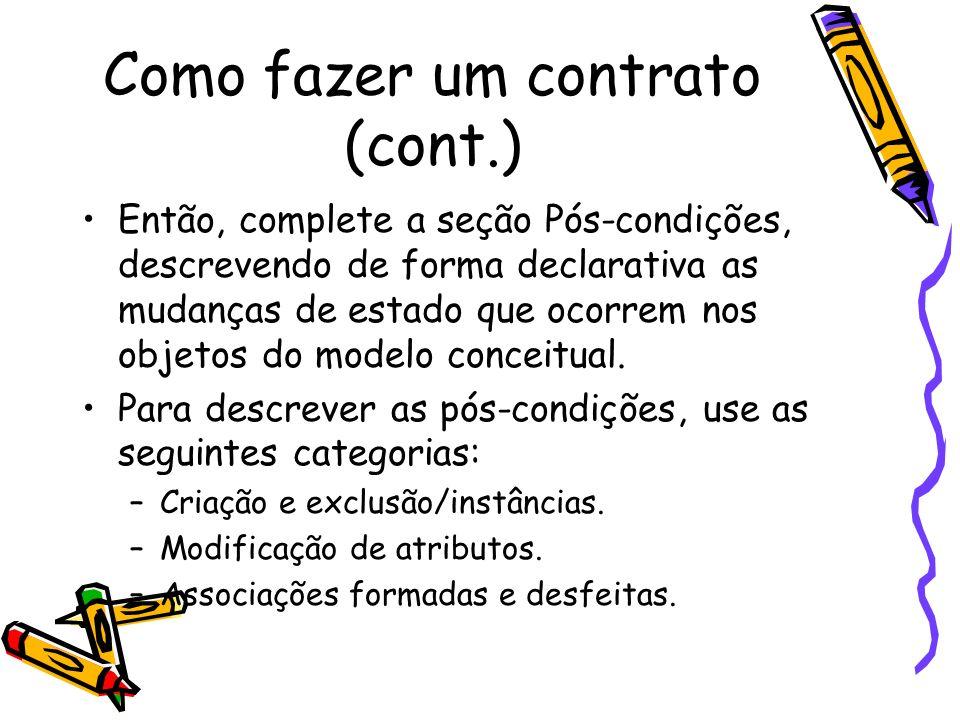 Como fazer um contrato (cont.)