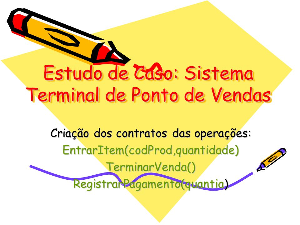 Estudo de Caso: Sistema Terminal de Ponto de Vendas