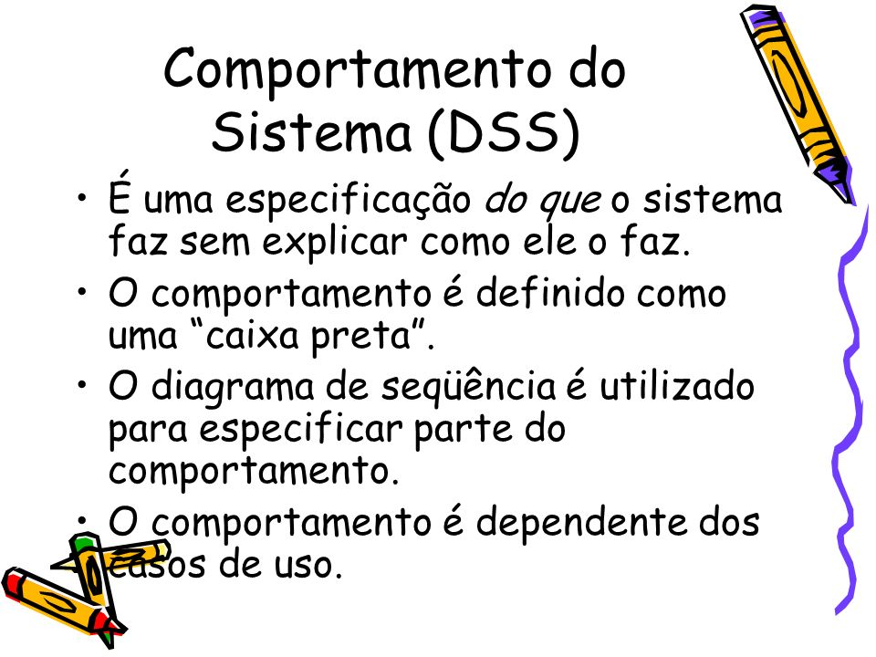 Comportamento do Sistema (DSS)
