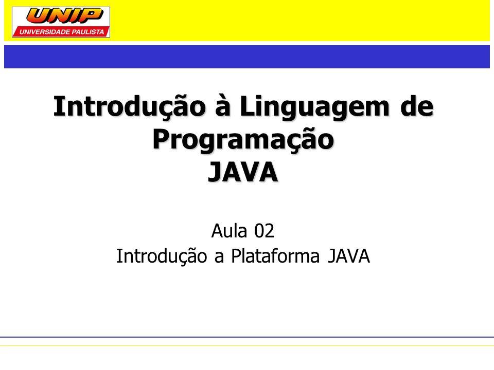 Introdução à Linguagem de Programação JAVA