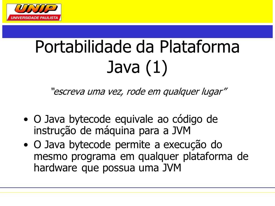Portabilidade da Plataforma Java (1)