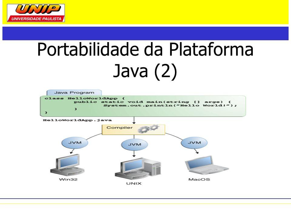 Portabilidade da Plataforma Java (2)