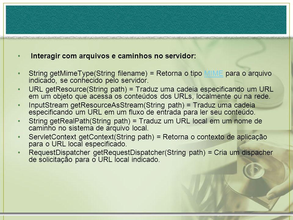Interagir com arquivos e caminhos no servidor: