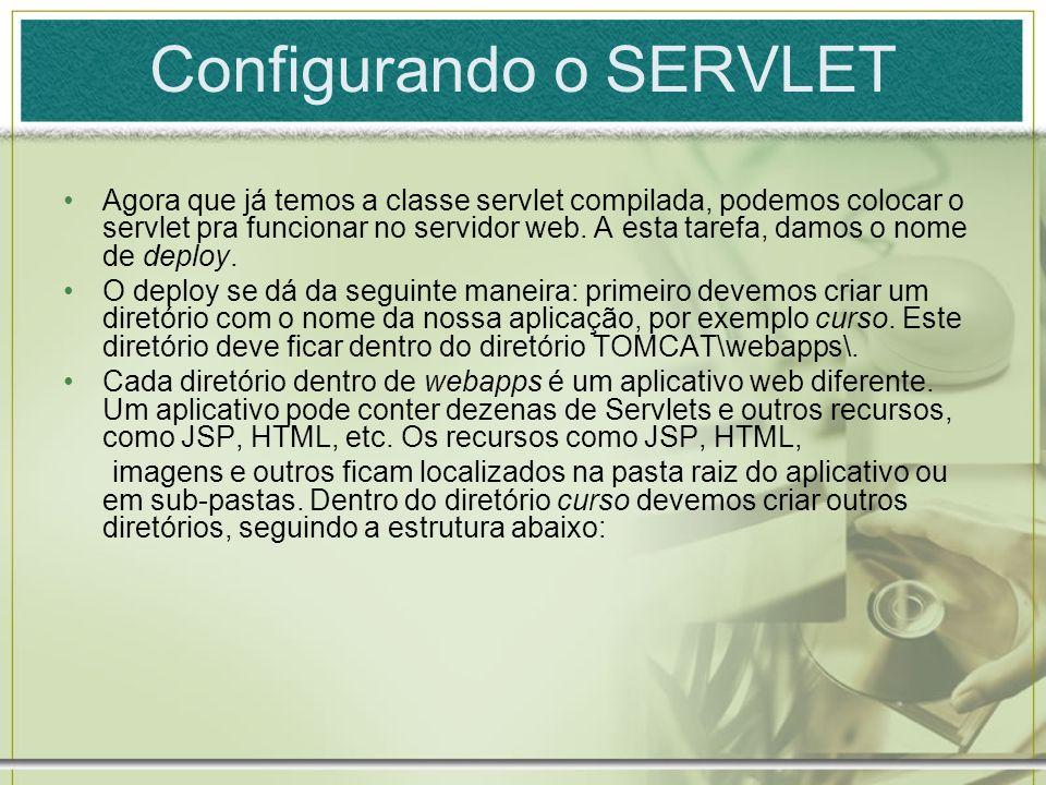 Configurando o SERVLET