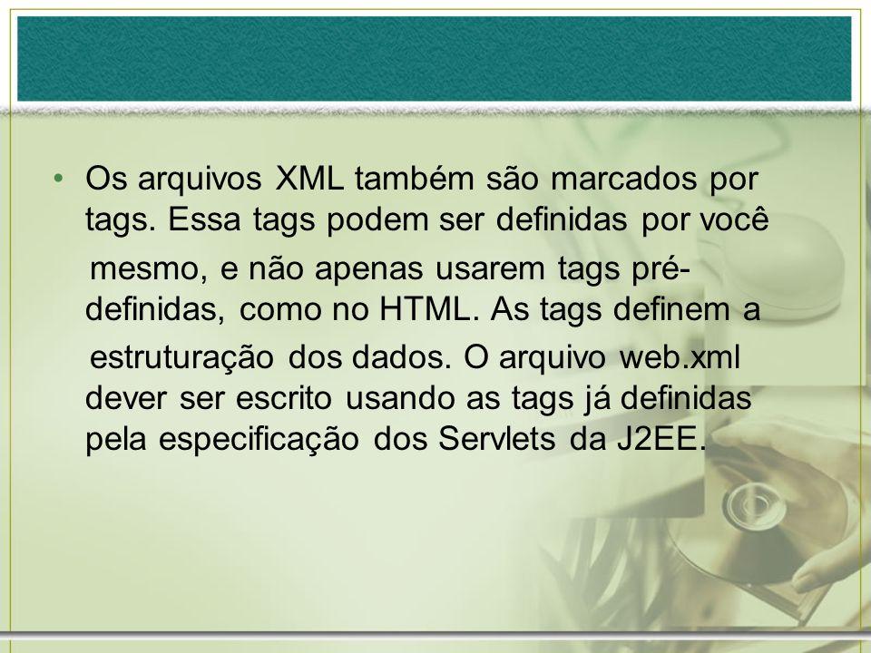 Os arquivos XML também são marcados por tags
