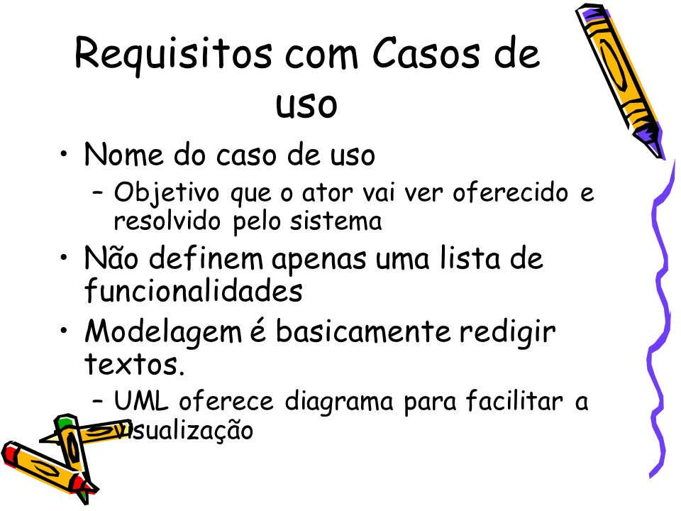 Requisitos com Casos de uso