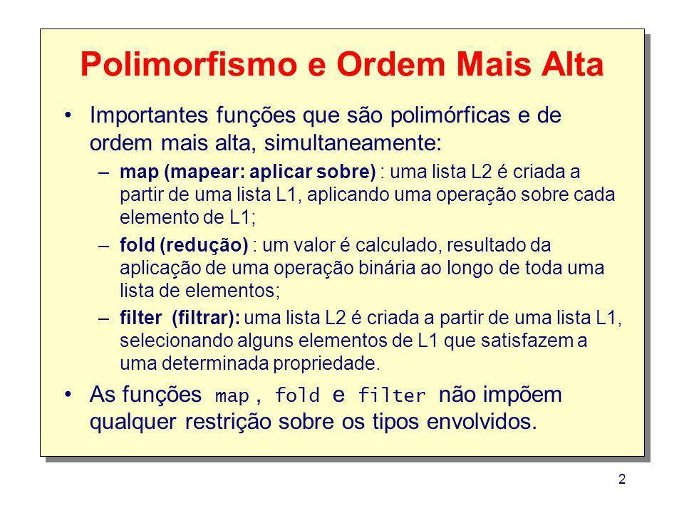 Polimorfismo e Ordem Mais Alta