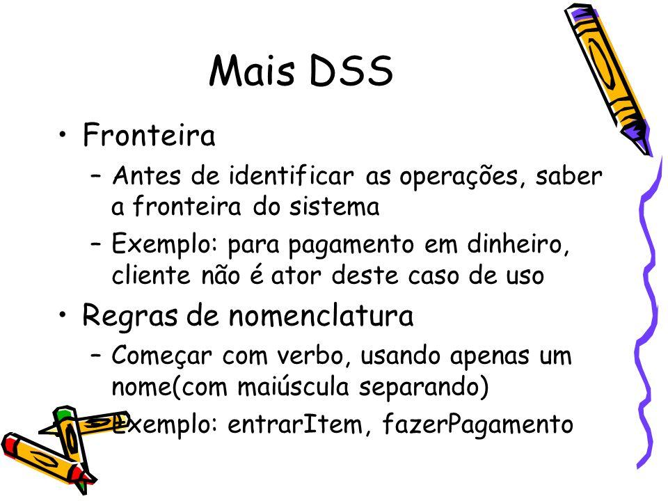 Mais DSS Fronteira Regras de nomenclatura