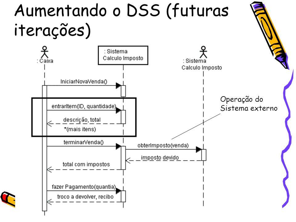 Aumentando o DSS (futuras iterações)