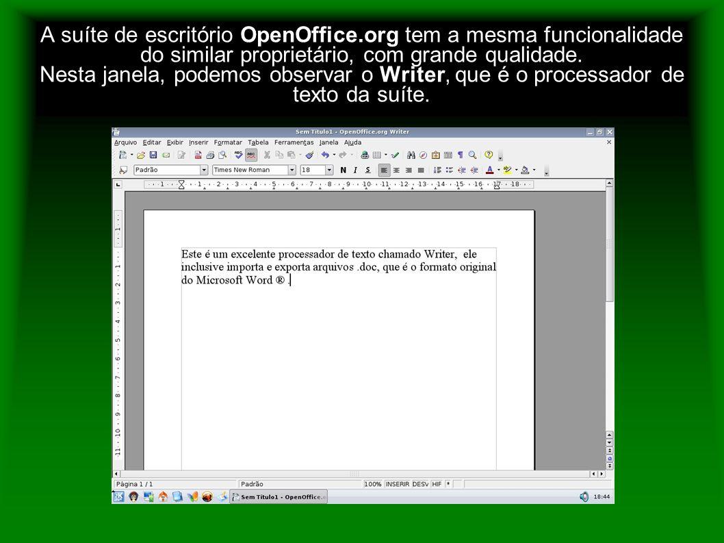 A suíte de escritório OpenOffice