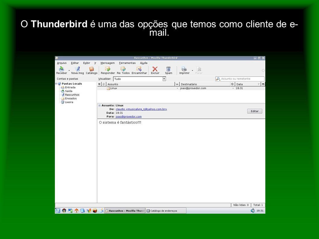 O Thunderbird é uma das opções que temos como cliente de e-mail.
