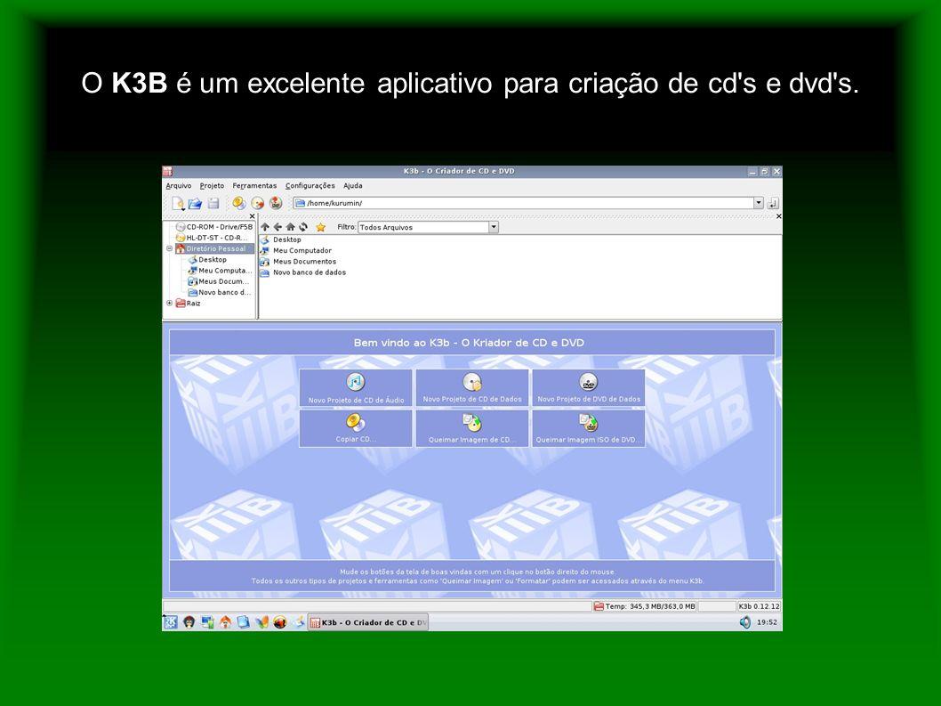 O K3B é um excelente aplicativo para criação de cd s e dvd s.