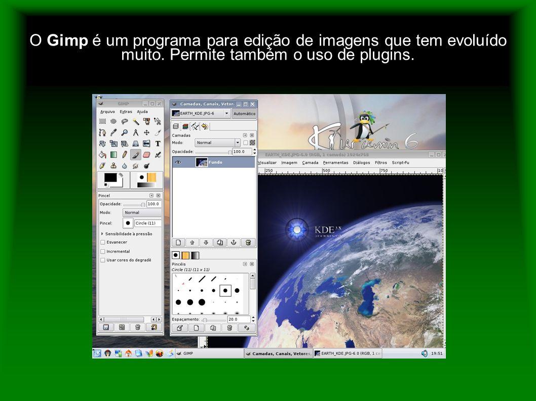 O Gimp é um programa para edição de imagens que tem evoluído muito