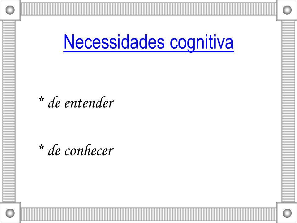 Necessidades cognitiva