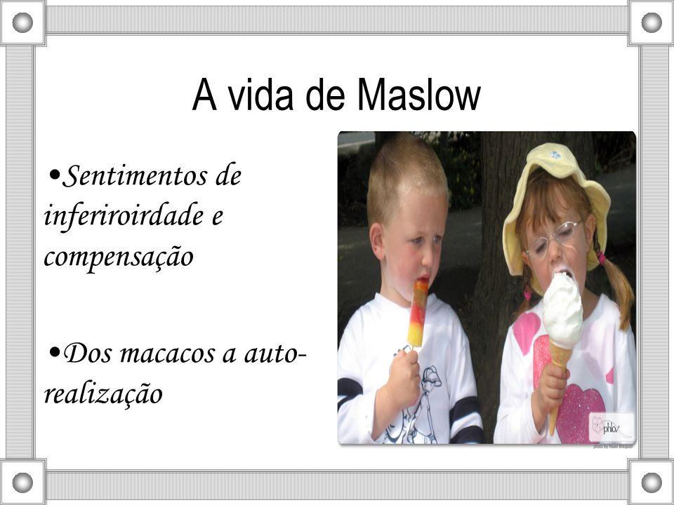 A vida de Maslow Sentimentos de inferiroirdade e compensação