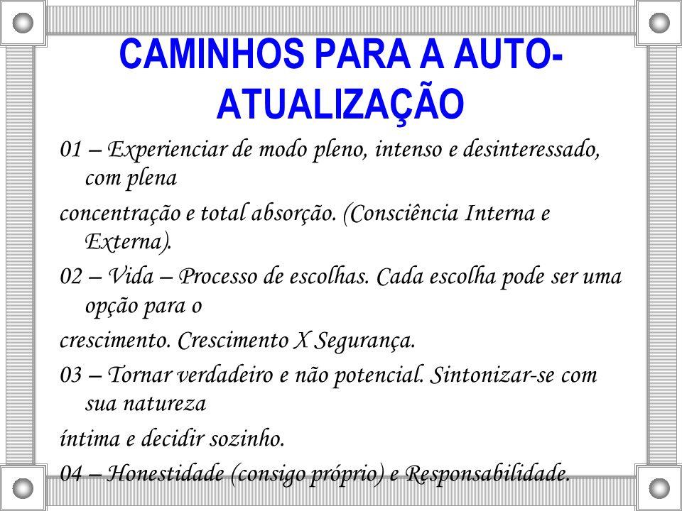 CAMINHOS PARA A AUTO-ATUALIZAÇÃO