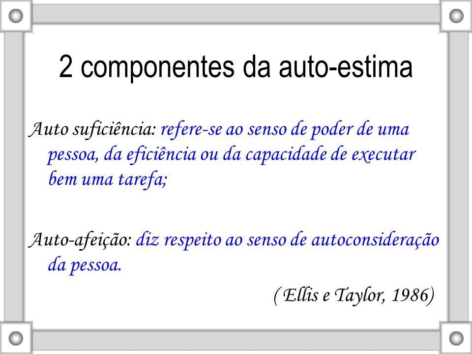 2 componentes da auto-estima
