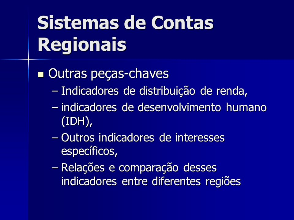 Sistemas de Contas Regionais