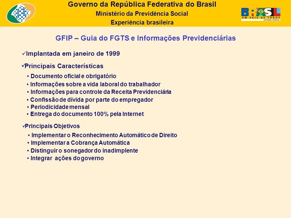 GFIP – Guia do FGTS e Informações Previdenciárias