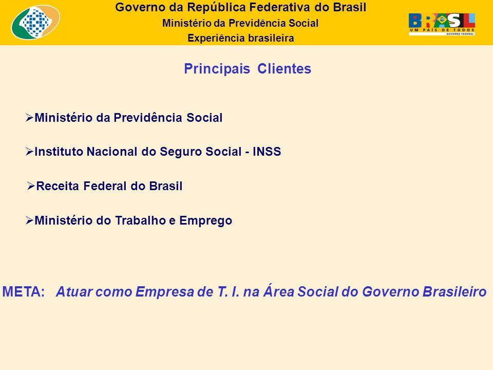 Atuar como Empresa de T. I. na Área Social do Governo Brasileiro