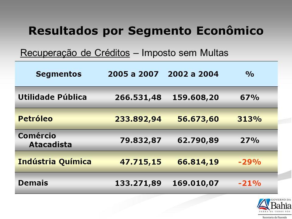 Resultados por Segmento Econômico