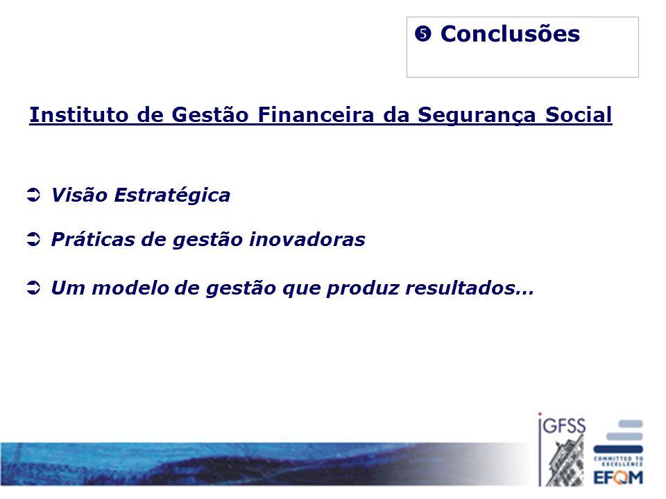  Conclusões Instituto de Gestão Financeira da Segurança Social