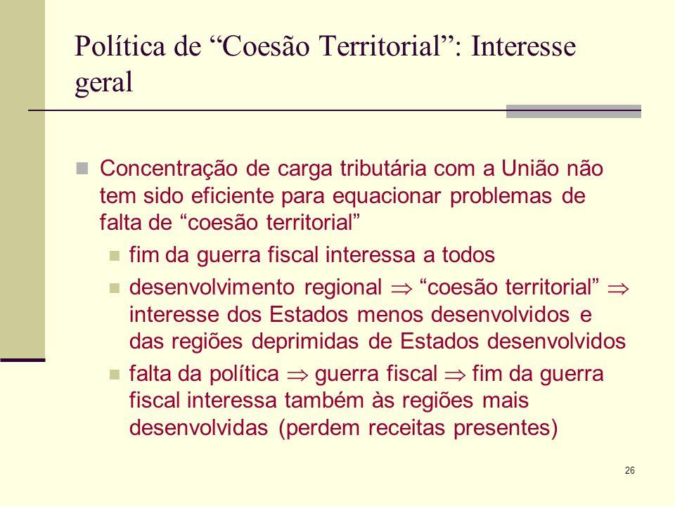 Política de Coesão Territorial : Interesse geral