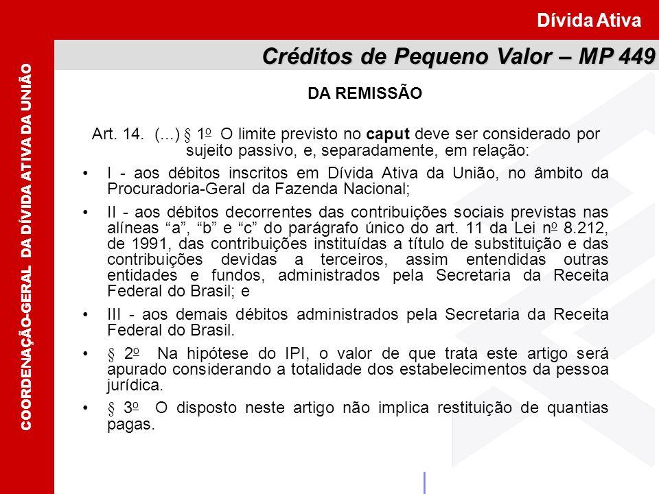 COORDENAÇÃO-GERAL DA DÍVIDA ATIVA DA UNIÃO