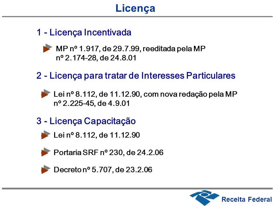 Licença 1 - Licença Incentivada