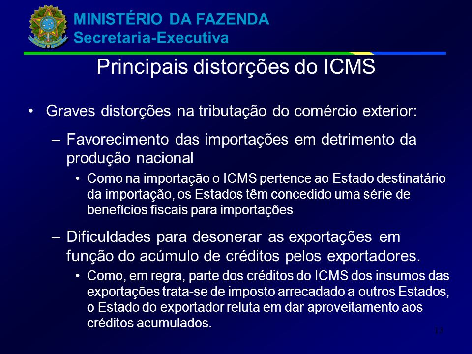 Principais distorções do ICMS