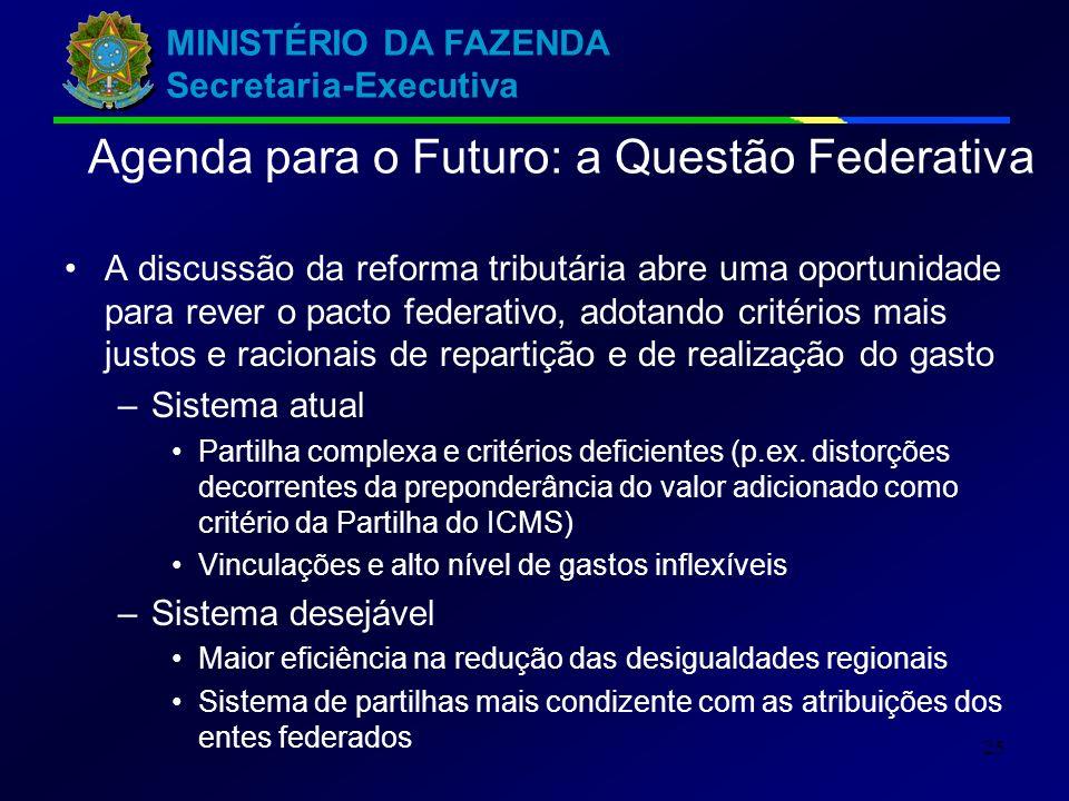 Agenda para o Futuro: a Questão Federativa