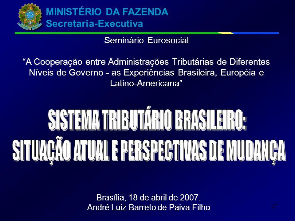 SISTEMA TRIBUTÁRIO BRASILEIRO: