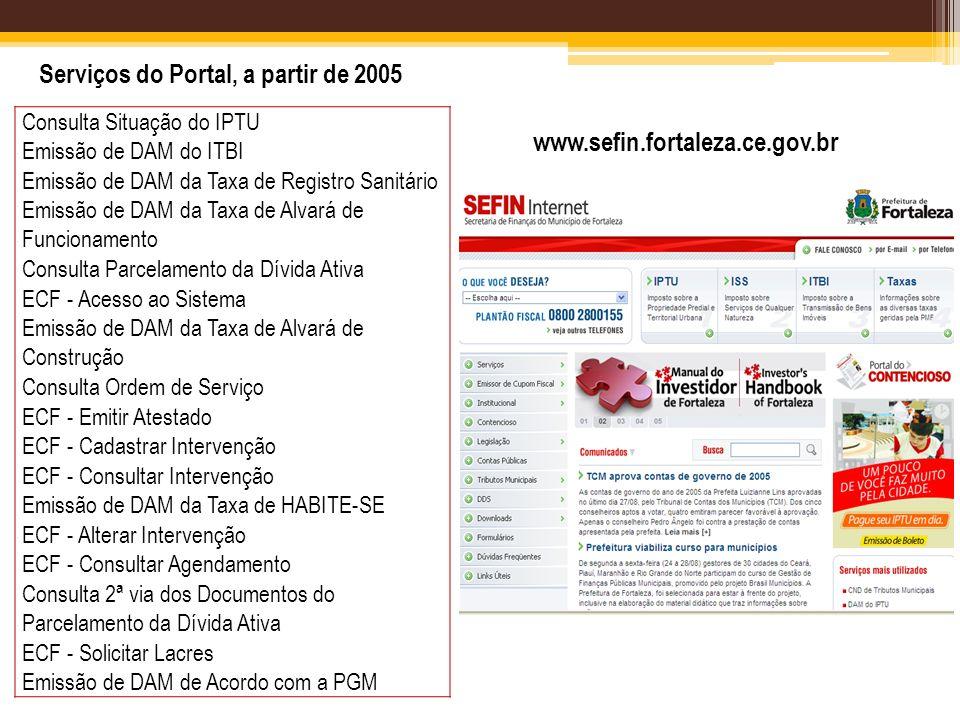 Serviços do Portal, a partir de 2005