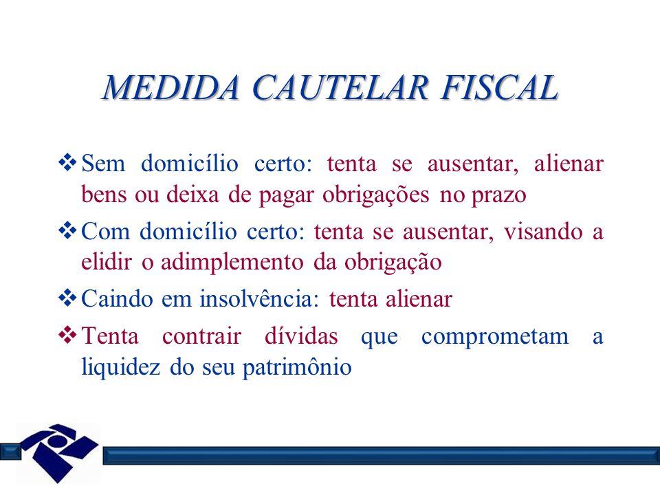 MEDIDA CAUTELAR FISCAL