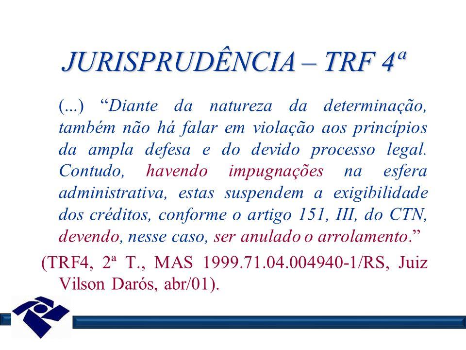 JURISPRUDÊNCIA – TRF 4ª