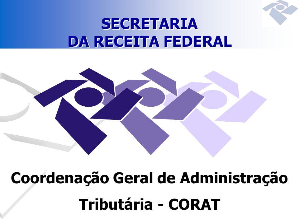 SECRETARIA DA RECEITA FEDERAL Coordenação Geral de Administração