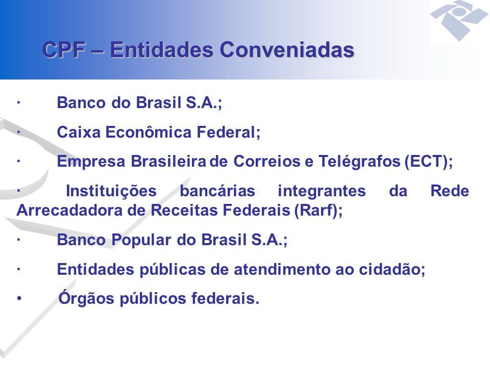 CPF – Entidades Conveniadas