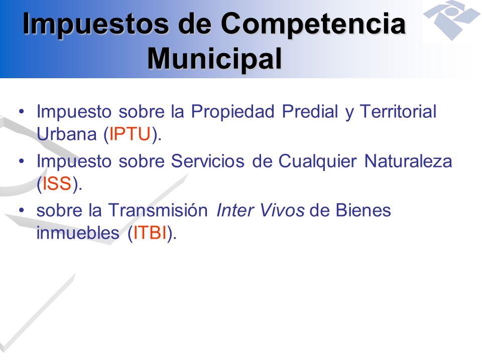 Impuestos de Competencia Municipal