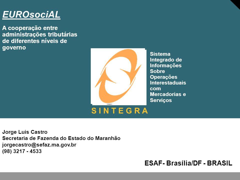 EUROsociAL S I N T E G R A ESAF- Brasília/DF - BRASIL