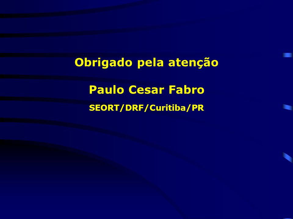 SEORT/DRF/Curitiba/PR