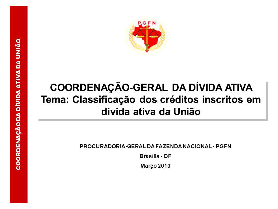 COORDENAÇÃO-GERAL DA DÍVIDA ATIVA