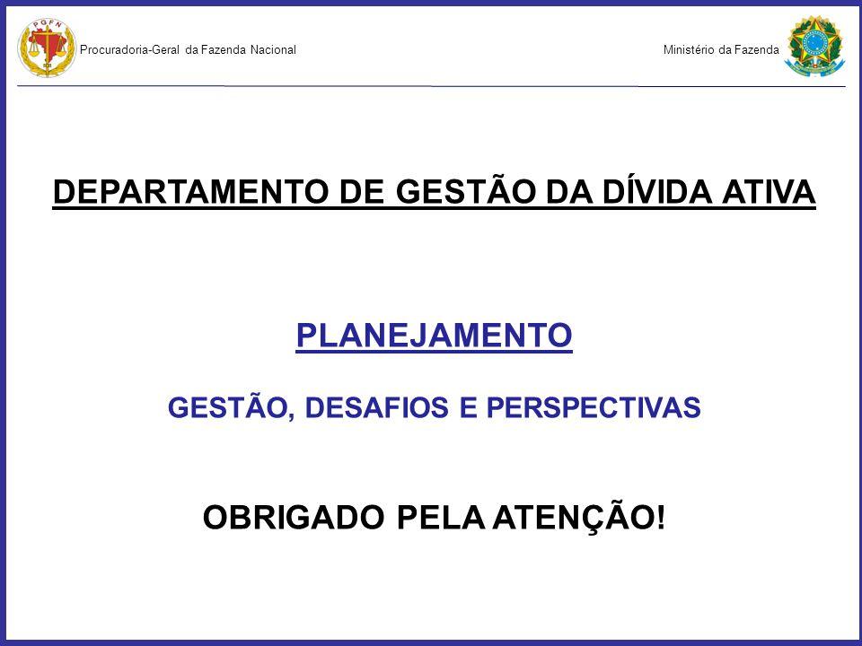 DEPARTAMENTO DE GESTÃO DA DÍVIDA ATIVA GESTÃO, DESAFIOS E PERSPECTIVAS