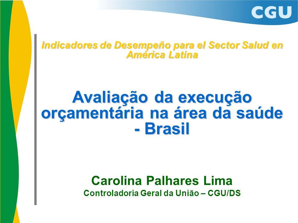 Avaliação da execução orçamentária na área da saúde - Brasil