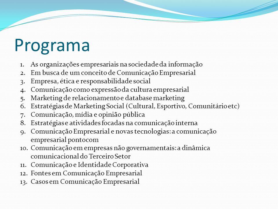 Programa As organizações empresariais na sociedade da informação