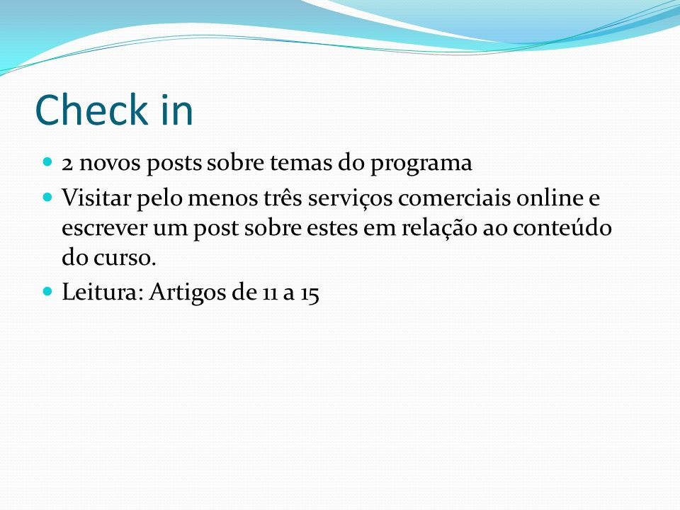 Check in 2 novos posts sobre temas do programa