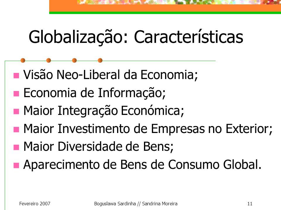 Globalização: Características