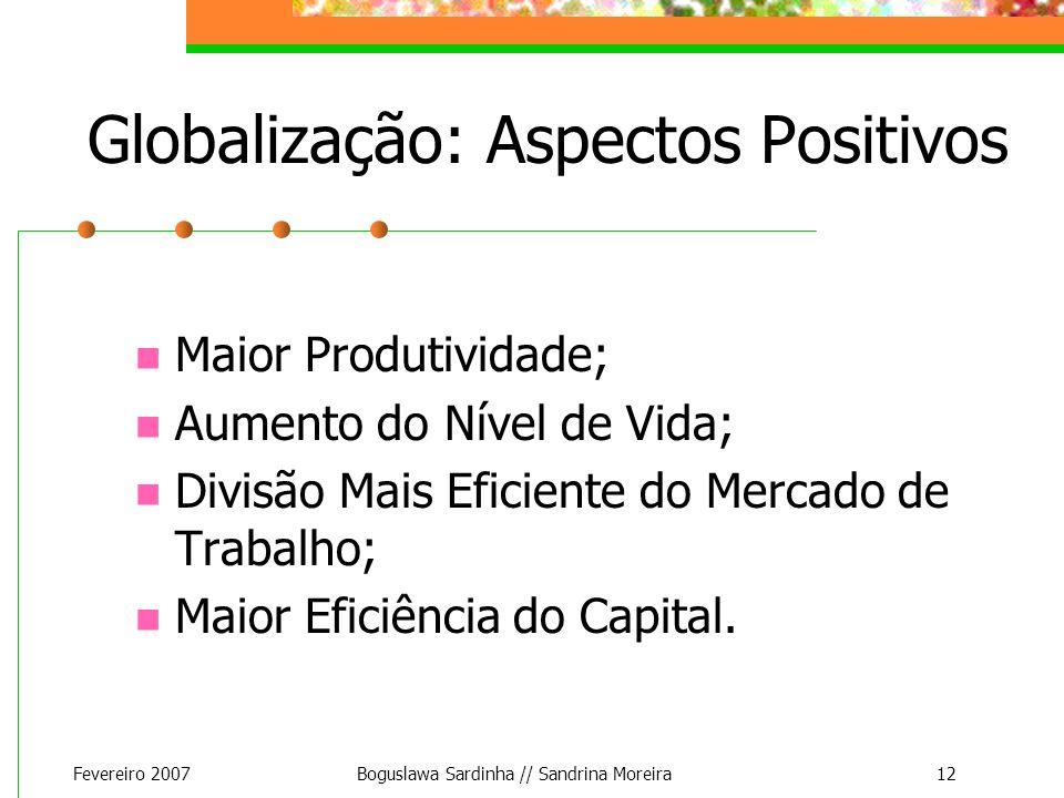 Globalização: Aspectos Positivos